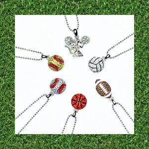 Sparkly Sports Mom Necklaces